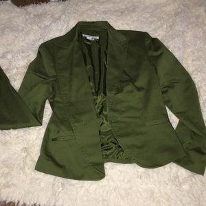 Zara basic army green blazer